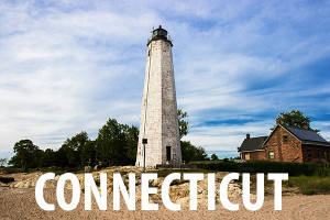 The lighthouse in Connecticut